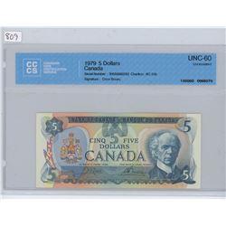 1979 5 DOLLAR BILL UNC-60 CCCS