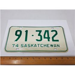 1974 LICENSE PLATE