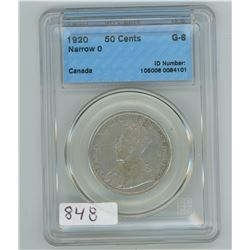 1920 50 CENT CCCS (NARROW O)