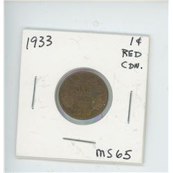 1933 ONE CENT (RED)