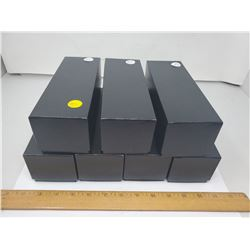 7 NEW BLACK COIN BOXES