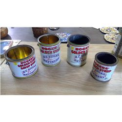LOT OF ROGERS GOLDEN SYRUP PAILS/TINS