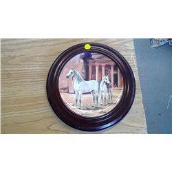 "FRAMED 1988 COLLECTORS PLATE - ""ARABIAN"" BY SUSIE WHITCOMBE"