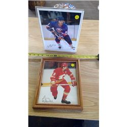 2 FRAMED HOCKEY PHOTOS