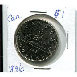 1986 CANADIAN $1.00 PIECES