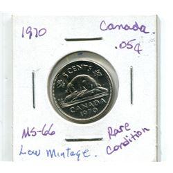1970 CANADIAN NICKEL (RARE)