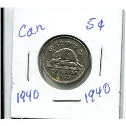 1940 CANADIAN NICKEL