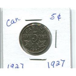 1927 CANADIAN NICKEL