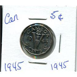1945 CANADIAN NICKEL