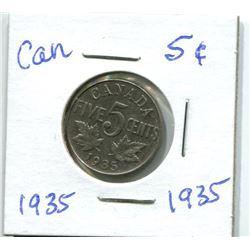 1935 CANADIAN NICKEL