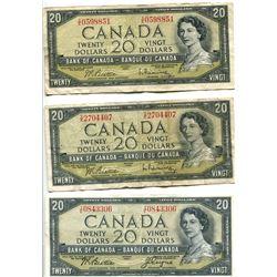 3 X $20 BILL - 1954