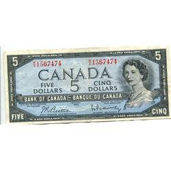 1 X $5 - 1954