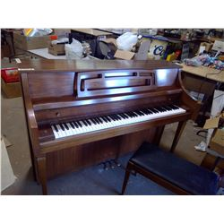 "Wooden Upright Piano w/ Bench - Conn (58"" x 22"" x 42""H)"