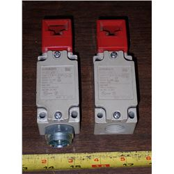 (2) Omron Limit Switches
