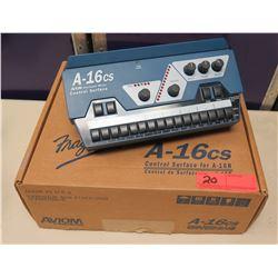 AVIOM A-16cs Control Surface Personal Mixer 18-24 VDC in Box