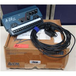 AVIOM A-16II Personal Mixer 18-24 VDC w/ Cord & Mount in Box