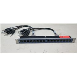 AVIOM PB28 Modular Patch Bay System w/ Analog Audio Input & 2 Cables & Connectors