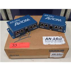 Qty 2 AVIOM A-Net AN-16sb System Bridge in Box