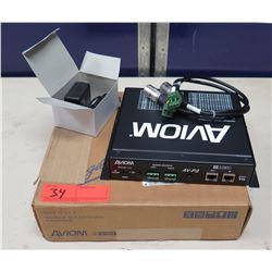 AVIOM AV-P2 Two Channel Output Module in Box w/ Cords