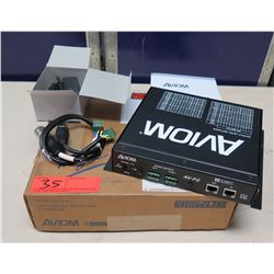 AVIOM AV-P2 Two Channel Output Module in Box w/ Cords