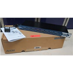 AVIOM AN-16/i 16 Channel Line Level Analog Input Module in Box w/ Cords & Manual