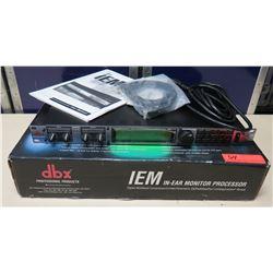 dbx Professional Products IEM In-Ear Monitor Processor in Box w/ Cords & Manual