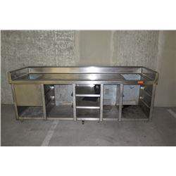 Stainless Steel Counter System wth Shelving & Cabinets