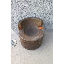 Seat - Repurposed Antique Mochi Pounding Barrel