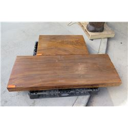 Qty 2 Large Solid Wood Slabs (5ft x 2ft and 3ft x 2ft)