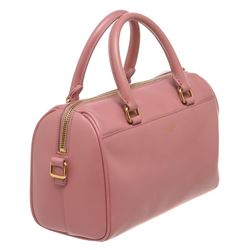 Saint Laurent YSL Pink Calfskin Leather Classic Baby Duffle Bag