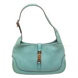 Gucci Aqua Blue Leather Small Jackie Shoulder Bag