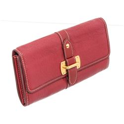 Louis Vuitton Red Suhali Leather Le Favori Wallet