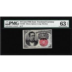 1874 10 Cent Fifth Issue Fractional Currency Note Fr.1265 PMG Choice Uncirculated 63EPQ