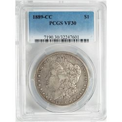 1889-CC $1 Morgan Silver Dollar Coin PCGS VF30
