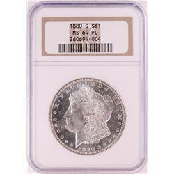 1880-S $1 Morgan Silver Dollar Coin NGC MS64 PL