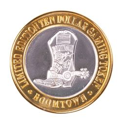 .999 Silver Boomtown Reno, NV $10 Casino Limited Edition Gaming Token