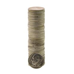 Roll of (50) Brilliant Uncirculated 1963-D Roosevelt Dime Coins