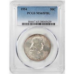 1954 Franklin Half Dollar Coin PCGS MS65FBL
