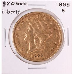 1888-S $20 Liberty Head Double Eagle Gold Coin