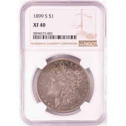 1899-S $1 Morgan Silver Dollar Coin NGC XF40