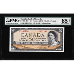 1954 $50 Bank of Canada Note BC-42b PMG Gem Uncirculated 65EPQ