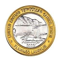 .999 Silver Flamingo Laughlin Nevada $10 Casino Limited Edition Gaming Token