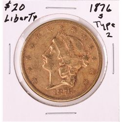 1876-S Type 2 $20 Liberty Head Double Eagle Gold Coin