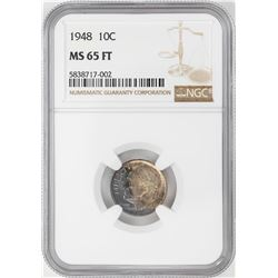 1948 Roosevelt Dime Coin NGC MS65FT