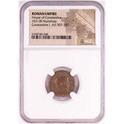Constantine I, AD 307-337 BI Nummus Ancient Roman Empire Coin NGC Certified