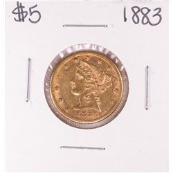 1883 $5 Liberty Head Half Eagle Gold Coin