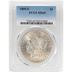 1899-S $1 Morgan Silver Dollar Coin PCGS MS65