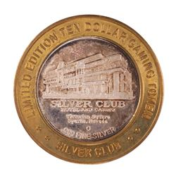 .999 Silver Silver Club Casino Sparks, NV $10 Limited Edition Casino Gaming Token