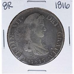 1816-AG Mexico 8 Reales Ferdin VII Silver Coin
