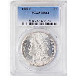 1883-S $1 Morgan Silver Dollar Coin PCGS MS62